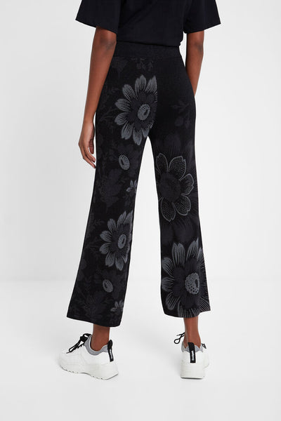 Desigual Long floral trousers