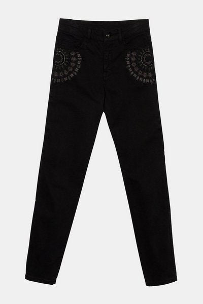 Desigual Skinny denim trousers black