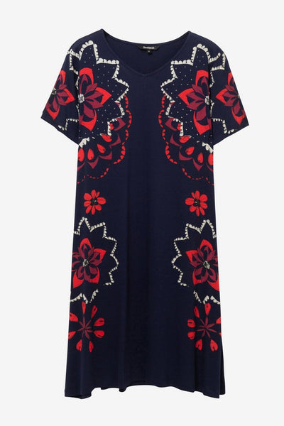 Desigual Flared V-neck dress