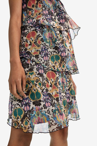 Desigual Triple layer print dress