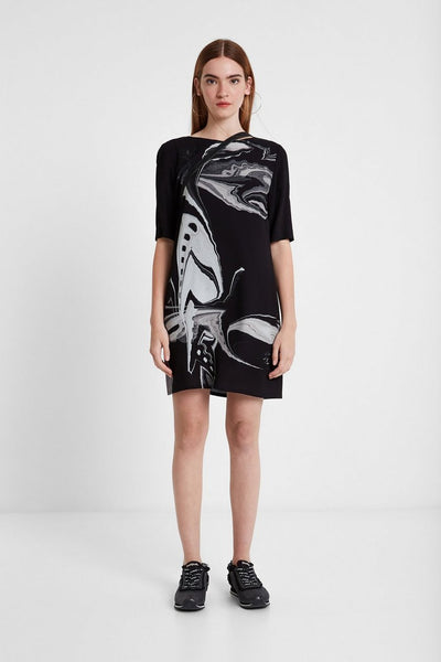Desigual Viscose T-shirt dress Designed by M. Christian Lacroix