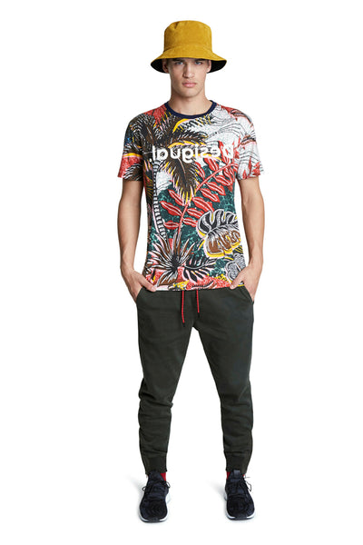 Desigual Multi Print Mens T-Shirt