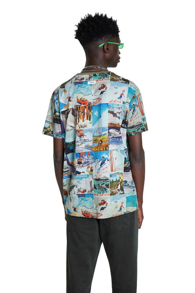 Desigual Mens Multi Colour T-Shirt
