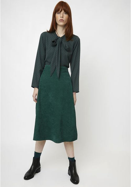 Compania Fantastica Shift Midi Skirt In Black and Green