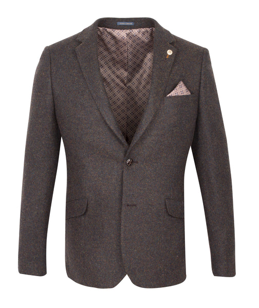 Two Button Suit Blazer Brown by Guide London