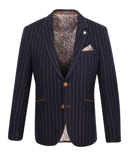 Guide London Navy Stripe Jacket