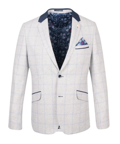 Guide London Grey Jacket with with Collar Details