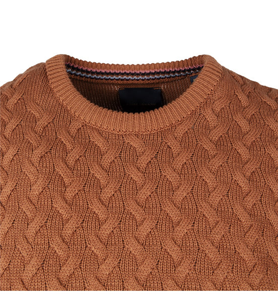 Guide London Bronze Mens Knitwear Crew Neck, Bronze