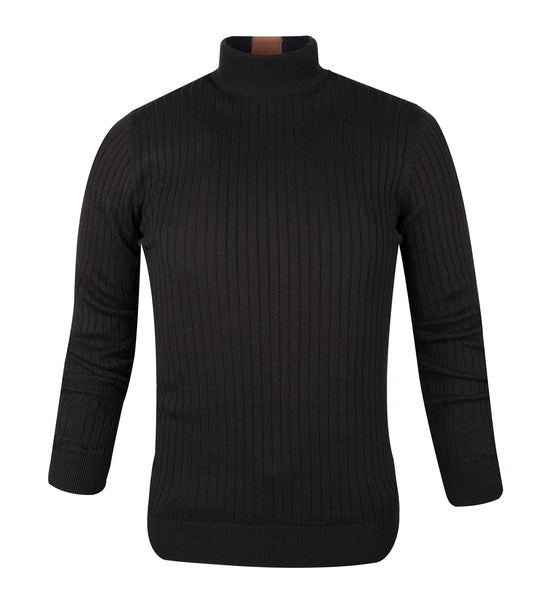 Guide London Knitwear Turtle Neck Black