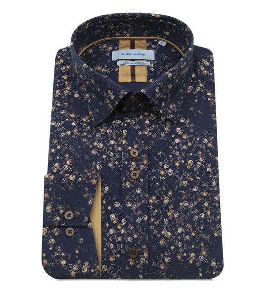 Guide London Autumn Fall Leaf Pattern Shirt