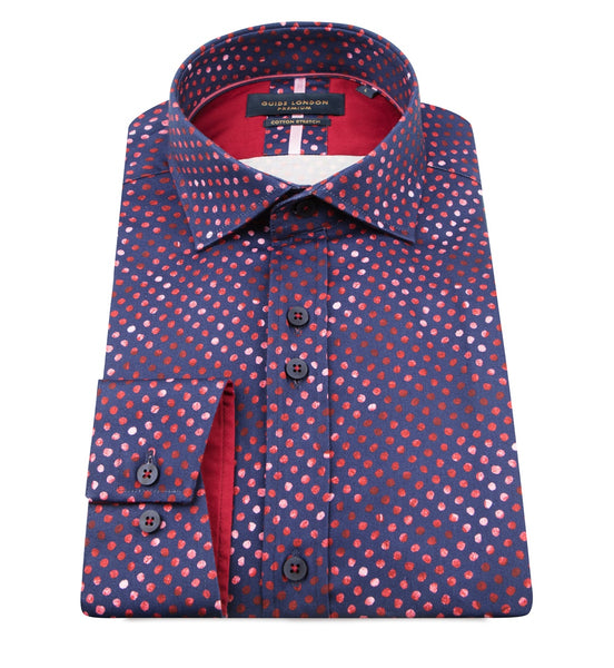 Guide London Multi Spot Long Sleeve Shirt
