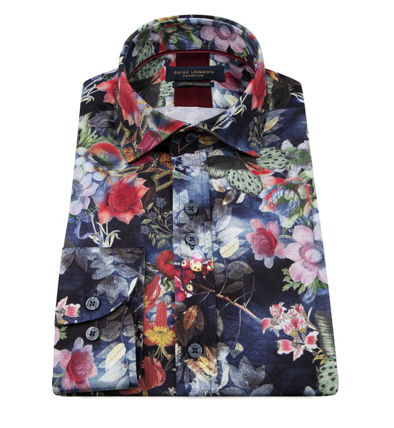 Guide London Multi Mens Long Sleeve Shirt