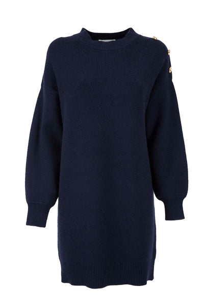 Silvian Heach Jersey Dress With Button Details