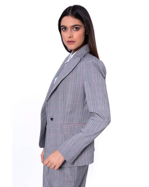 SILVIAN HEACH JACKET WITH CHECK PATTERN QUILLACAS