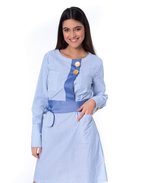 SILVIAN HEACH DRESS WITH STRIPPED PATTERN GOOMALLING