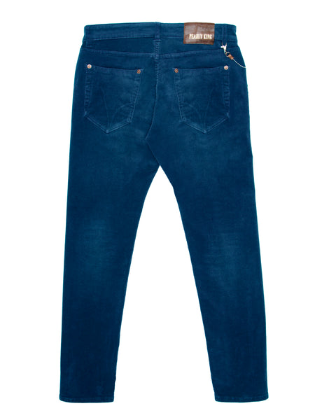 Pearly King Stagger Cord, 5 Pocket Jean, Blue