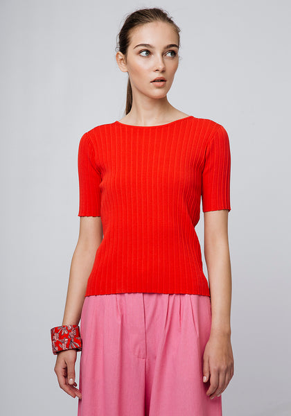 COMPANIA FANTASTICA WIDE RIB KNIT JUMPER