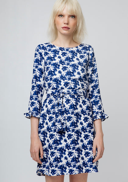 COMPANIA FANTASTICA BLUE FLORAL DRESS