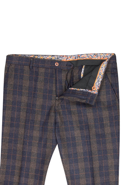 Guide London Navy Check Trousers