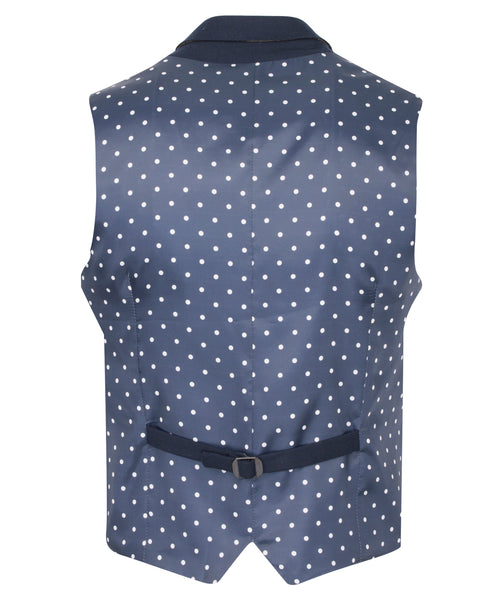 Navy Waistcoat by Guide London
