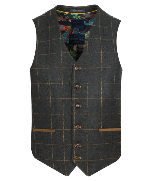 Guide London Olive Waistcoat