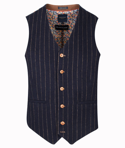 Guide London Navy Stripe Waistcoat