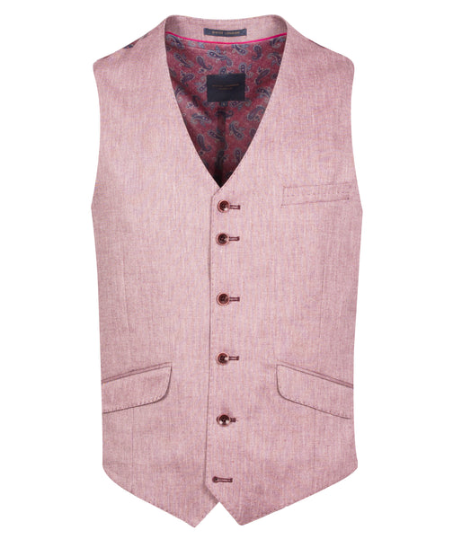 Guide London Pink Waistcoat with Stitched Details