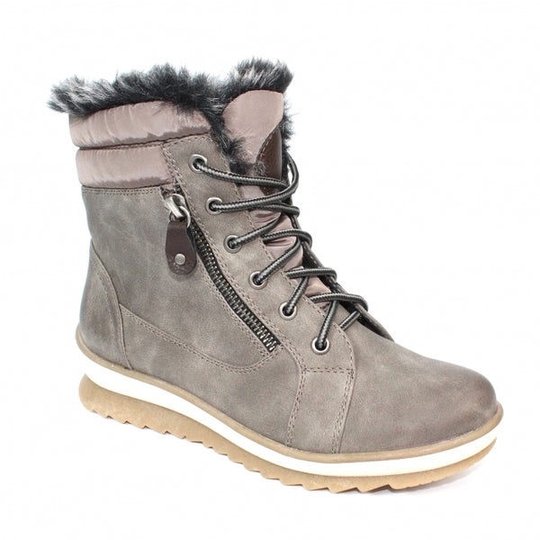 Lunar Amelia Faux Fur Boot Grey