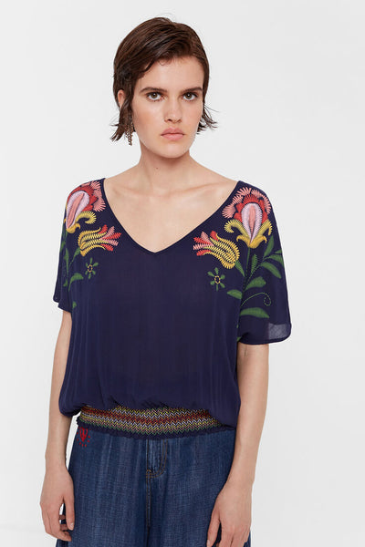 Tropical floral print blouse CATANIA
