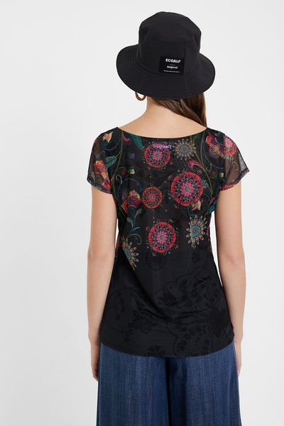 Desigual Multilayer Floral T-shirt Karen