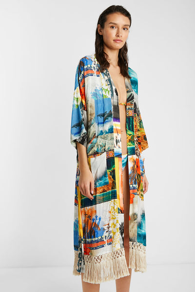 Desigual Hawaiian Eco Kimono HAWAI Dress