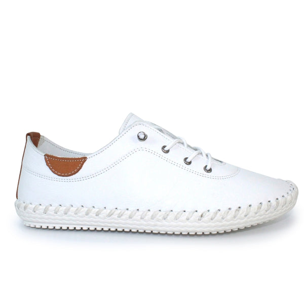 Lunar St Ives Leather Plimsoll Sandals