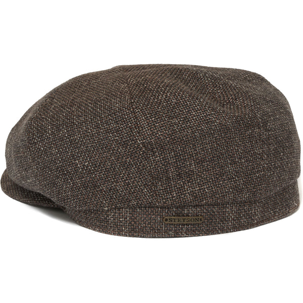 Stetson Hatteras Ellington Flat Cap- Brown
