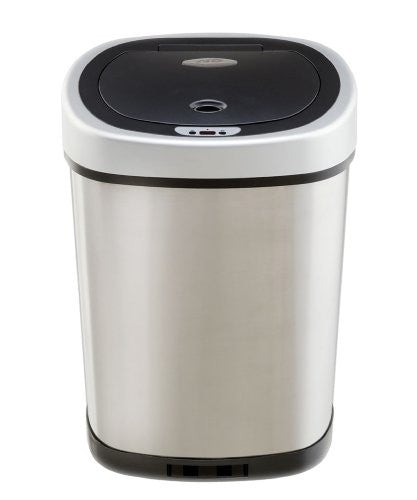 Infrared Touchless Stainless Steel Trash Can, 13.2-Gallon
