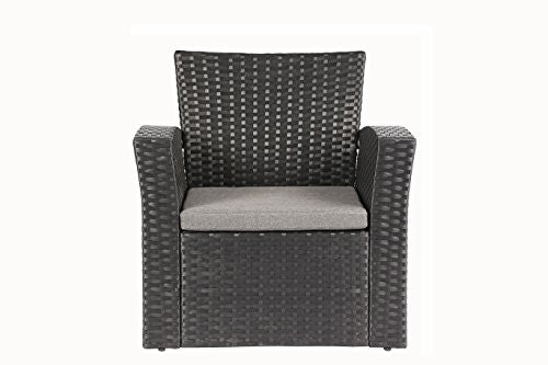 Rattan Garden Furniture Grey Cushions 4 pieces outdoor furniture complete patio cushion wicker rattan