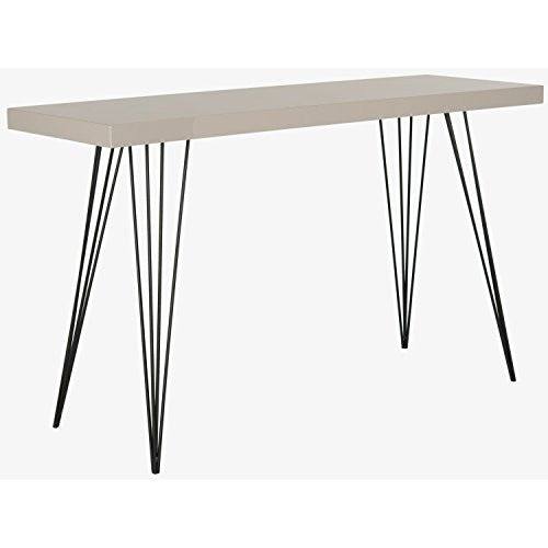 Wolcott Mid-Century Modern Taupe and Black Console Table