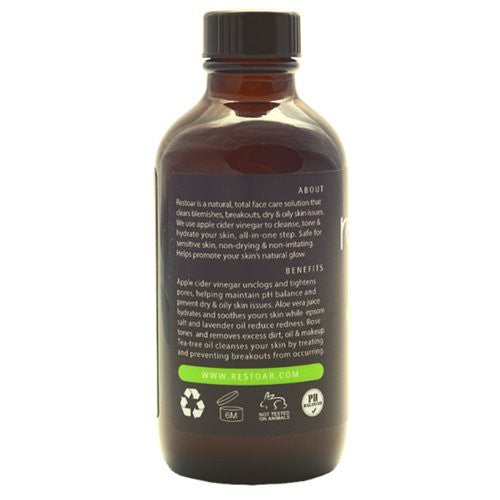 RESTOAR 100% Organic Apple Cider Vinegar Face Toner