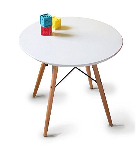 ... Buschman Set Of White Eames Style Kids Dining Room Mid Century Wooden  Legs Table And Two ...