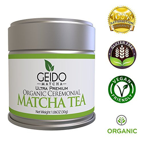 Geido Matcha Green Tea Powder - Premium, Organic, Best Taste