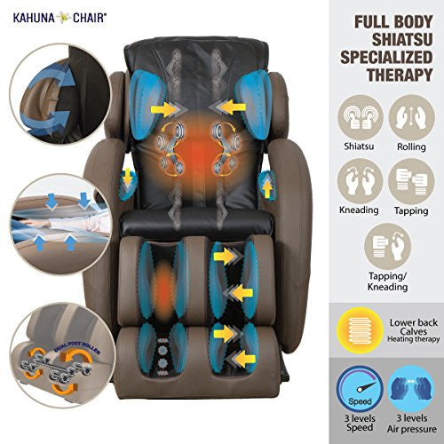 Full-Body Zero Gravity Space Saving L-Track Kahuna Massage Chair