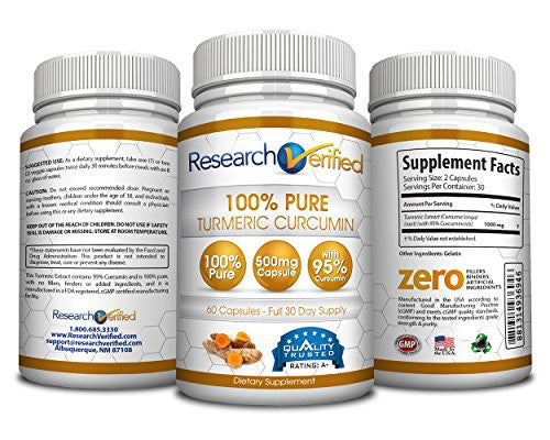 Turmeric Curcumin - 180 Capsules - 3 Month Supply