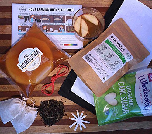 Kombucha Brewing Starter Kit - For Brewing Healthy, Delicious, DIY Kombucha Tea Right From Home