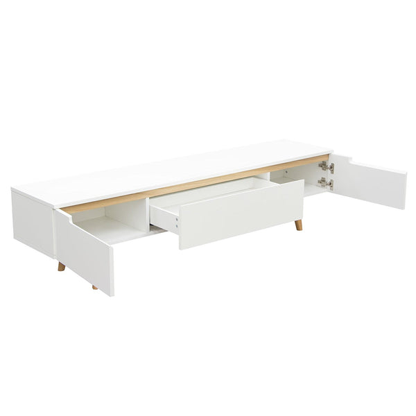 Vision Low Profile Entertainment Cabinet in White