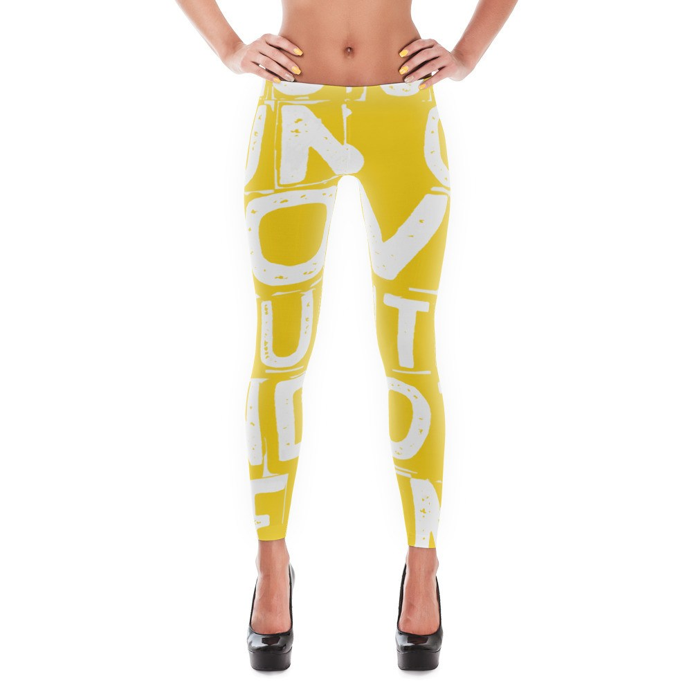 Leggings, - Runs On Love And Wine Leggings