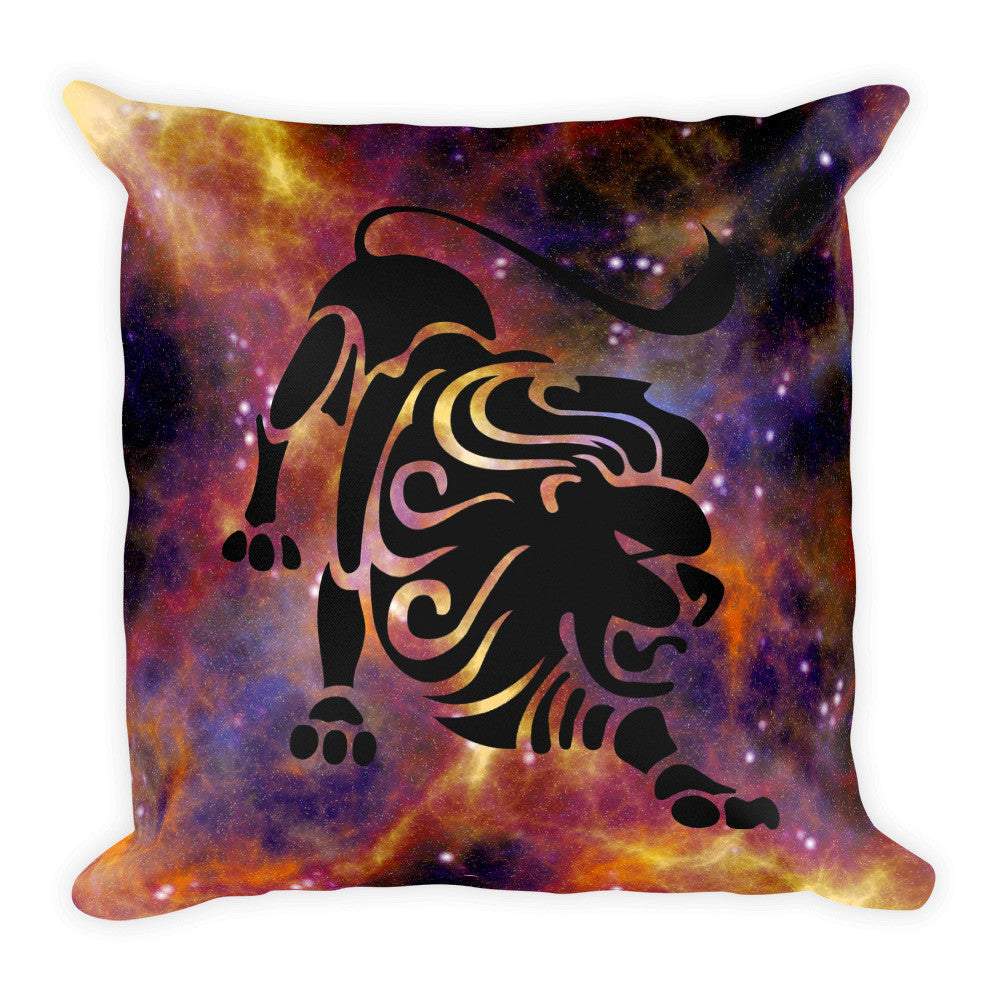 Leo Zodiac Sign Galaxy Throw Pillow