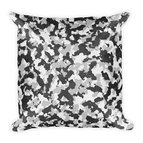 Grey Camouflage Military Throw Pillow