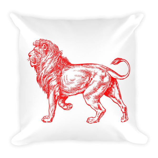 Red Lion Square Throw Pillow