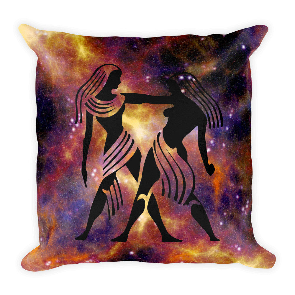 Gemini & Aquarius Perfect Match Zodiac Throw Pillow