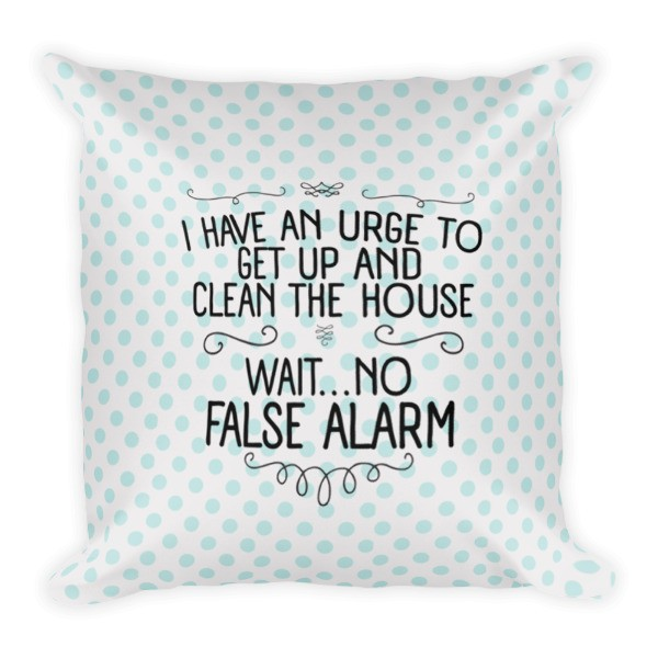 Pillow - I Have An Urge To Get Up And Clean Pillow