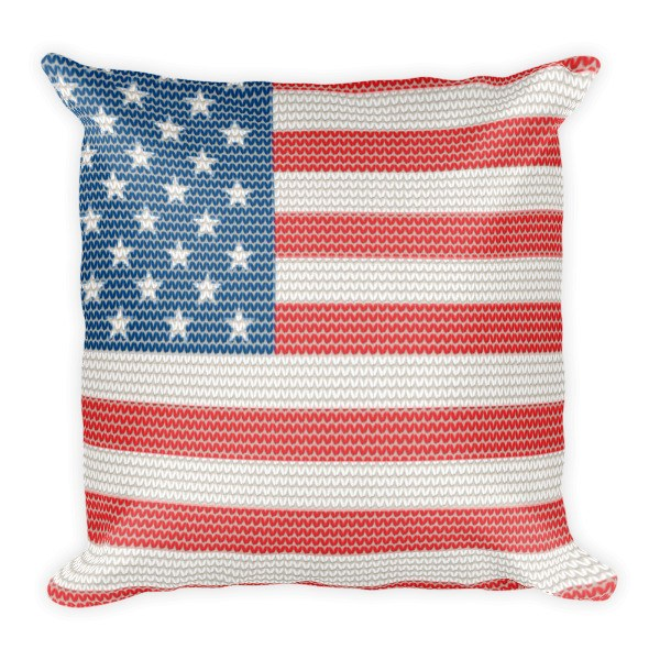 Pillow - USA Knitted Style Flag Pillow
